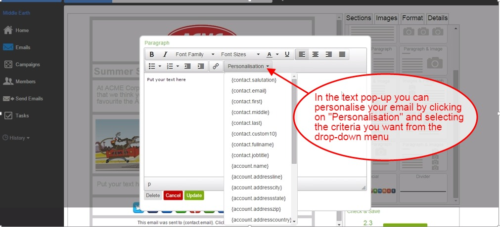Email CRM: Personalise your emails