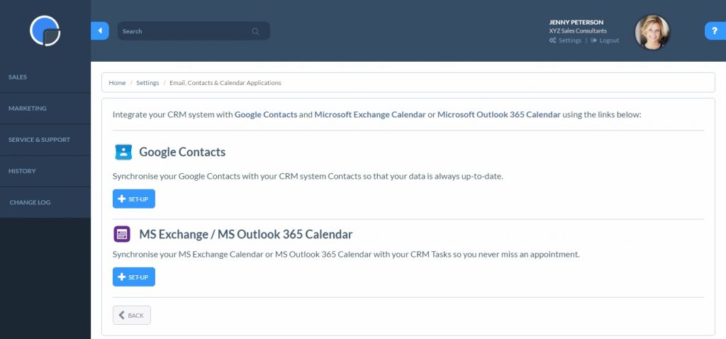 Enable Microsoft Calendar Sync