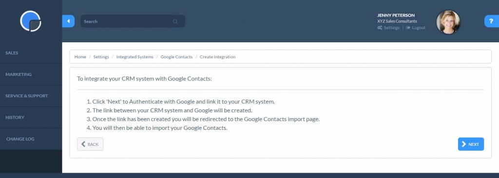 Google Contacts Synchronisation