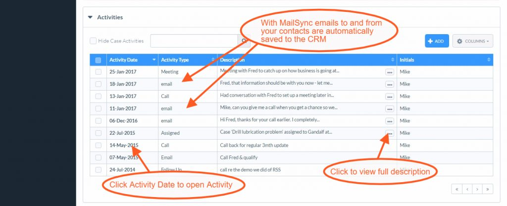 Save a CRM Email to Activities