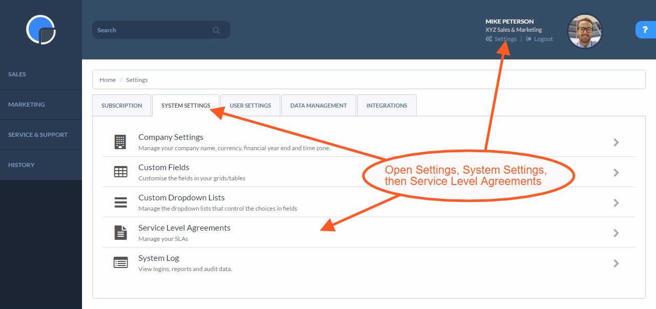 Service Level Agreements Slas Managed In Your Crm