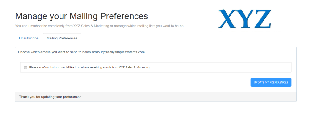 Update Preferences