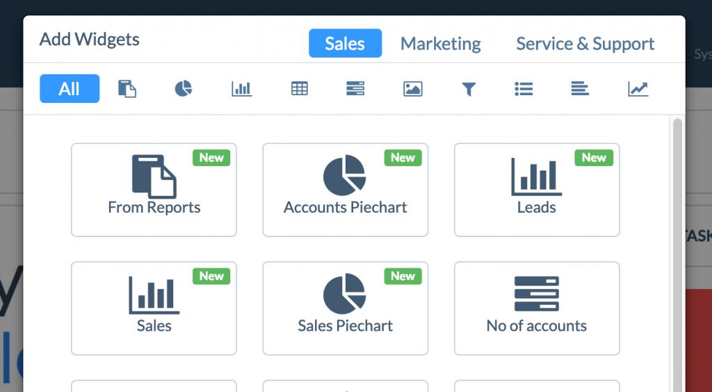 Accounts pie-chart