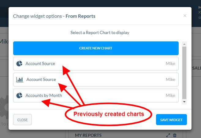 Create a reports widget