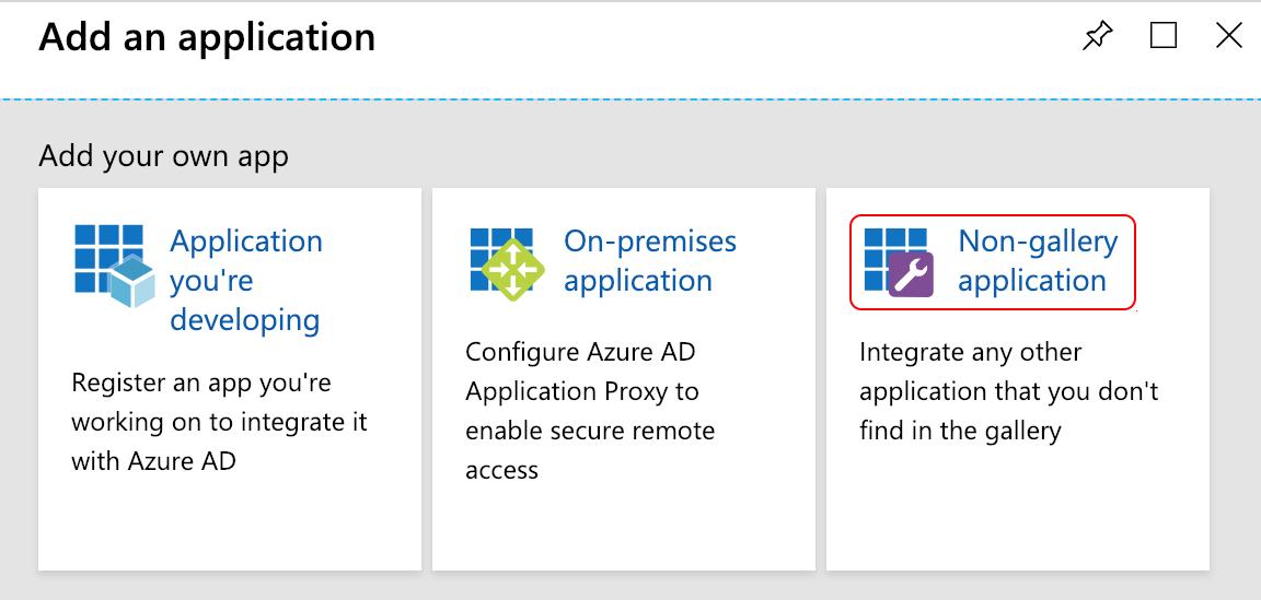 Azure non gallery application