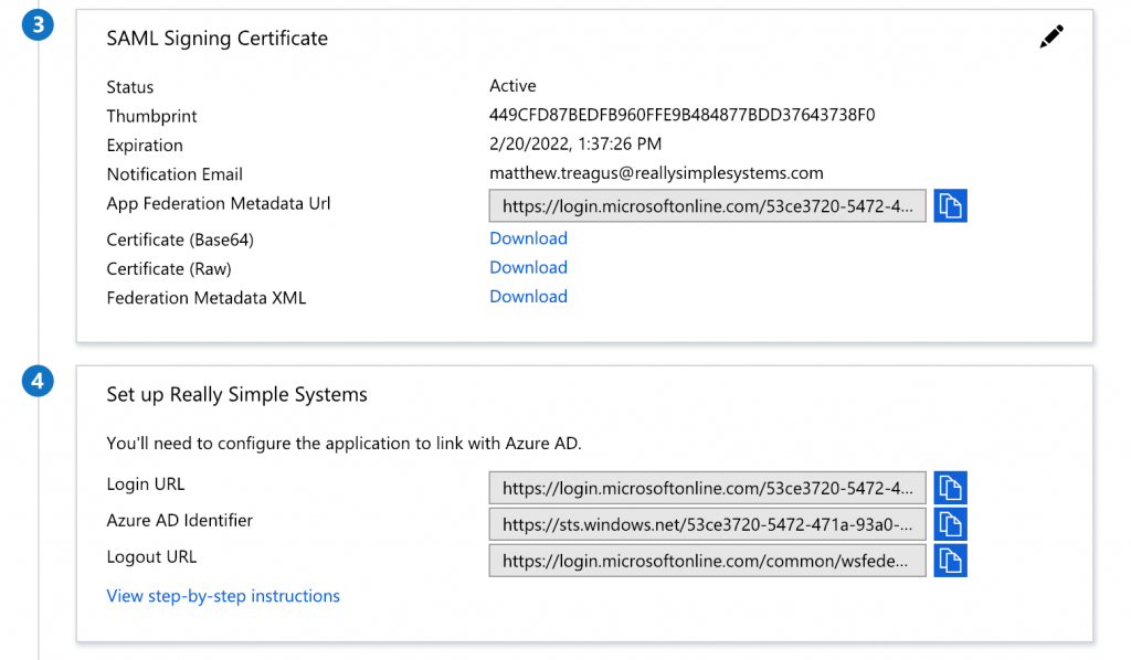 Azure non gallery application set up stages 3 and 4